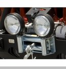 Roller Fairlead with Offroad Light Mounts by Rugged Ridge
