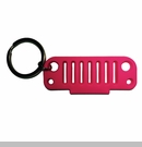 Rubber Keychain-JK Grille Pink