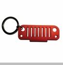 Rubber Keychain-JK Grille Red