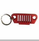Rubber Keychain-TJ Grille, Red