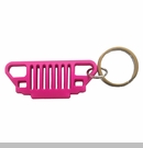 Rubber Keychain-YJ Grille, Pink