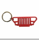 Rubber Keychain-YJ Grille, Red