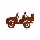 Rustic Metal Jeep Magnet- Topless Offroad