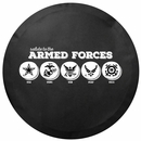 Salute to the Armed Forces Tire Cover by All Things Jeep