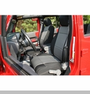 Seat Cover Front Black / Gray Jeep Wrangler JK 07-10