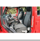 Neoprene Front Seat Covers Wrangler JK 2011-2017  Black and Gray