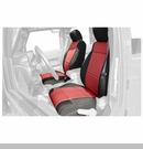 Neoprene Front Seat Covers Wrangler JK 2011-2017 Black and Red