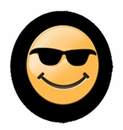 Smiley Face with Sunglasses Tire Cover - Closeout