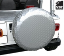 """Spare Tire Cover 30"""" - 33"""" Spare Tires Diamond Plate Silver by VDP"""