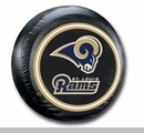 St. Louis Rams NFL Tire Cover - Black Vinyl