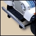 Stainless Steel Front Bumper Without Holes by Rugged Ridge for Jeep CJ
