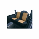 Tan and Black Fabric Rear Seat Covers for Jeep Wrangler TJ (1997-2002)