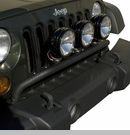 Bumper Mounted Light Bar Wrangler JK 2007-2017 Textured Black