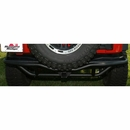Rear Bumper RRC with 2 In Hitch Wrangler JK 2007-2017 Textured Black