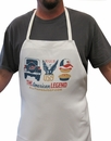 """The American Legend"" White BBQ Apron by All Things Jeep"