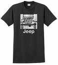 "Traditional ""Camp Jeep Logo"" Men's T-Shirt, Black"