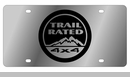 """""""Trail Rated 4x4"""" License Plate, Stainless Steel"""
