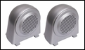 Tweeter Speaker Enclosures, Jeep Wrangler JK (2007-2010), Silver