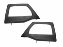 Upper Soft Door Pair Wrangler JK 2007-2017 Front Black Rugged Ridge