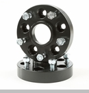 "Wheel Adapters 1.25"" Converts 5x4.5"" to 5x5"" Bolt Pattern in Black"