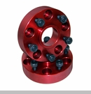 "Wheel Spacers 1.5"" with 5x5"" Bolt Pattern Wrangler 2007-2017 Red"