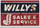 """Willys Jeep Sales and Service Reproduction 12""""x18"""""""