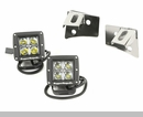 LED Windshield Light & Bracket Kit Wrangler 2007-2017 Square Stainless