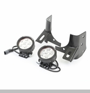 Windshield Bracket Light Kit Wrangler 1997-2006 Blk - Rnd Light