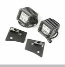 Windshield Bracket Light Kit Wrangler 2007-2017 Txtrd Blk - Sqr Light