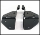 Windshield Hinges, Black for Jeep CJ and YJ (1976-1995)
