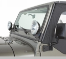 Windshield Light Brackets, 97-06 Jeep Wrangler, Black