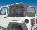 WindStopper Jeep Wind Screen, Black, 2007-2017 Wrangler JK 2 Door