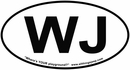 "WJ Oval ""Euro"" Sticker for your Jeep Grand Cherokee"