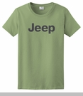 Women's T-Shirt with Dark Gray Jeep Logo