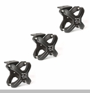 "X-Clamp Accessory System 2.25-3"" Roll Bar/Cages Rnd Bars Txt Blk 3-pc"