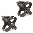 "X-Clamp Accessory System 2.25-3"" Roll Bar/Cages Rnd Bars Txt Blk Pair"