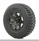 "XHD Wheel/Tire Package Wrangler 2007-2012 17x9"" Blk Satin 305/65R17"
