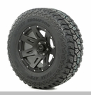 "XHD Wheel/Tire Package Wrangler 2007-2012 17x9"" Blk Satin 315/70R17"