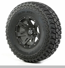 "XHD Wheel/Tire Package Wrangler 2007-2012 17x9"" Blk Satin 37x12.50x17"