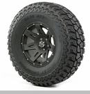 "XHD Wheel/Tire Package Wrangler 2013-2017 17x9"" Blk Satin 37x12.50x17"