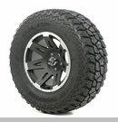 "XHD Wheel/Tire Package Wrangler 2013-2017 17x9"" Blk w/Lip 305/65R17"