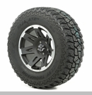 "XHD Wheel/Tire Package Wrangler 2013-2017 17x9"" Blk w/Lip 315/70R17"