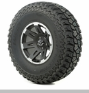 "XHD Wheel/Tire Package Wrangler 2013-2017 17x9"" Blk w/Lip 37x12.50x17"