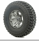 "XHD Wheel/Tire Package Wrangler 2013-2017 17x9"" Gun Metal 37x12.50x17"