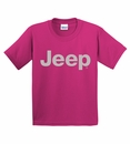 Youth T-Shirt with Light Gray Jeep Logo