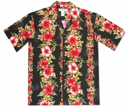 Aloha Mood Black Hawaiian Shirt