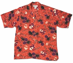 Aloha Oe Red Retro Hawaiian Shirt
