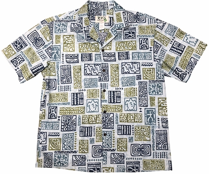 Ancient Stories Blue Hawaiian Shirt