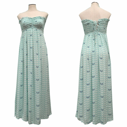 Angels by the Sea Aqua Angel Wings Princess Long Dress