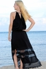 Angels by the Sea Black Long Lace Dress
